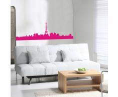 INDIGOS 4052166103299 Wandtattoo w519 Skyline Paris Wandaufkleber 96 x 31 cm, rosa