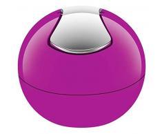 Spirella 10.15113 Kosmetikeimer 1 Liter Abfalleimer Schwingdeckeleimer Tischabfalleimer Bowl Pink