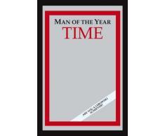 empireposter Fun Man of The Year - Bedruckter Spiegel mit Kunststoff Rahmen in Holzoptik, Kult-Spiegel - Grösse 20x30 cm