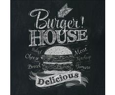 Pro-Art gla1012a Wandbild Glas-Art Burger House 30 x 30 cm