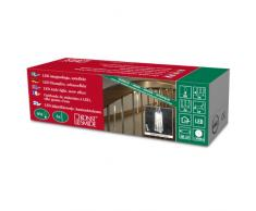 Konstsmide 2760-103 LED Lichtervorhang mit 6 Leuchtstäben / für Innen / VDE geprüft / Batteriebetrieben: 3xAA 1.5V / funkelnder Schneeeffekt / 60 warm weiße Dioden / transparentes Kabel