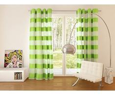 Splendid FLORENCE Konfektion Vorhang mit Ösen, 140 x 245 cm, grün