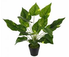 Flair Flower Pothospflanze im Topf, Kunst-Pflanze, Polyester, Kunststoff, Grün, 40 x 25 x 25 cm
