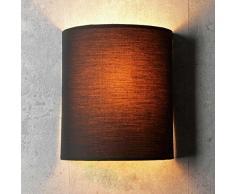 Wandleuchte Loft/im modern Stil/schwarz/Stoffschirm / 1x E27 bis max. 60W 230V / Wandlampe innen kompakt/Beleuchtung Wohnzimmer Schlafzimmer