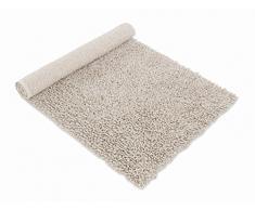 möve Wellness Badteppich Linentwist 60 x 100 cm aus 70 % Baumwolle / 30 % Leinen, nature