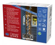 Konstsmide 4710-117 Maxi LED Kompakt System Basis-Set: Lichterkette u. Transformator/für Außen (IP67) / 24V Außentrafo / 50 warm weiße Dioden/schwarzes Softkabel