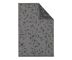 Normann Copenhagen Illusion Geschirrtuch, Baumwolle, rauchschwarz, 75 x 50 x 0.5 cm