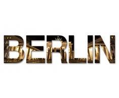Eurographics Art Words AW-DT74054, 3D Buchstaben BERLIN, Wandtattoo, bunt, 60 x 25 x 1,4 cm
