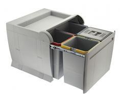 ELLETIPI PTA 5045 A Abfalleimer Mülltrennung, ausziehbar für Base
