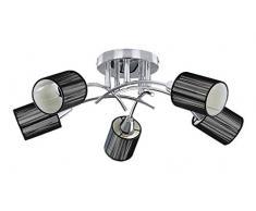 RABALUX Deckenleuchte, Metall, E14, Schwarz