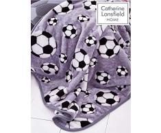Catherine Lansfield Fußball Überwurf 120 x 150 cm, Polyester, Grau, 150 x 120 x 0,5 cm