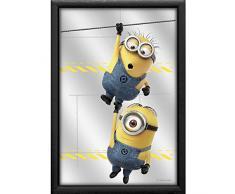 empireposter - Minions - Despicable Me Hanging - Größe (cm), ca. 20x30 - Bedruckter Spiegel, NEU - Beschreibung: - Bedruckter Wandspiegel mit blauem Kunststoffrahmen in Holzoptik -