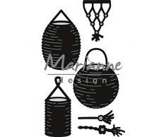 Marianne Design Craftables Präge-und Stanzschablone, Laterne gesetzt, für Handwerksprojekte, Metall, Silber, 49 x 80 mm