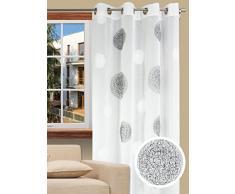 Splendid KOLORADO Konfektion Vorhang mit Schlaufen, 140 x 245 cm, weiß
