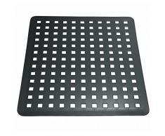 iDesign Spülbeckeneinlage, reguläre Spülbeckenmatte aus PVC Kunststoff, Spülmatte zum Abstellen von Besteck und Geschirr, schwarz
