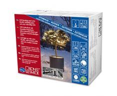 Konstsmide 6621-117 Micro LED Lichterkette / für Außen (IP67) / schutzisoliert/umgossen / mit Dimmer / 80 warm weiße Dioden / schwarzes Softkabel