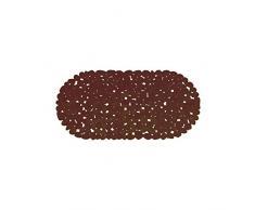 MSV 140883Â Pebbles Badewanneneinlage PVC Schokolade 35Â x 68Â x 0,1Â cm