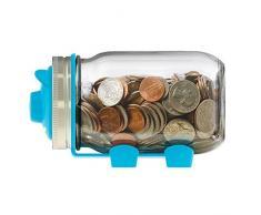 jarware 82661 Spice Deckel Standardgröße Mund Regular Mouth Piggy Bank: Blue
