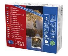 Konstsmide 3610-800 Micro LED Lichterkette / für Außen (IP44) / VDE geprüft / 24V Außentrafo / 40 bernsteinfarbene Dioden / schwarzes Kabel