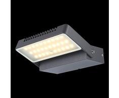 LED 6 Watt Wandleuchte Lampe Terrasse Au?enbeleuchtung IP44 Aluminium Globo 34125