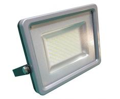 V-TAC 5680 LED 30 Watt SMD Fluter Scheinwerfer Strahler - Licht 4500 Kelvin tagweißes Licht - IP65 - 2400 lm - Ersetzt 150 Watt Halogen - Gehäuse Aluminiumdruckguss grau VT-4830