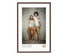 Deknudt Frames S44CH4-40.0X50.0 Bilderrahmen, Holz/MDF, Schlichter Stil, schmal, 53,5 x 43,5 x 1,47 cm, Dunkelbraun