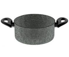 BALLARINI Cortina Granitium Kasserolle 2 Griffe, Grau, Durchmesser 24 cm