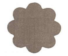 Hanse Home Waschbare Schmutzfangmatte Soft & Clean Taupe in Blumenform, 67x67 cm