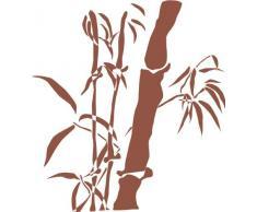 INDIGOS 4051095042242 Wandtattoo w333 Bambus Gras Wandauskleber in 3 Größen, 120 x 108 cm, braun