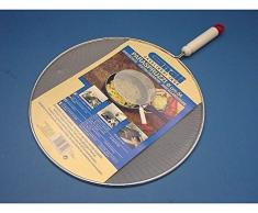 Spritzschutz Produkt aus Netz von Aluminium Dicht Gewebt. Geeignet für Schutz Spritzwasser-Spinne oder Kochen in Küche. VA Auf Töpfe oder Pfannen wie ein Deckel. Komplett mit Griff aus Kunststoff.