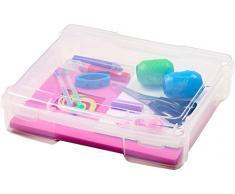 IRIS, Sortierbox/ Bastellkoffer/ Ordnungsbox/ Aufbewahrungsbox Project Case, PJC-300, 24 Fächer, Kunststoff, transparent, 33 x 31 x 7,7 cm