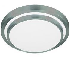 Action Deckenleuchte, 1-flammig, Serie Oslo, 1 x LED, 15 W, Höhe 9 cm, Durchmesser 35 cm, Kelvin 3000, Lumen 1100, aluminium gebürstet 967001630330