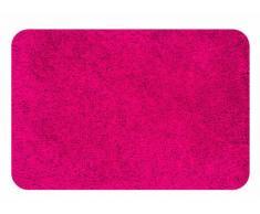 Spirella Badteppich Badematte Duschvorleger Mikrofaser Hochflor | flauschig | rutschhemmend | geeignet für Fußbodenheizung | 60x90 cm | Rot