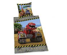 Herding 4433203050 Bettwäsche Dinotrux, Baumwolle, bunt, 135 x 200 x 2 cm