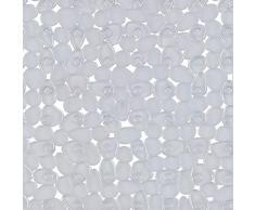 Spirella Duschmatte Anti Rutsch Matte Riverstone antibakteriell rutschfest 55x55 cm - mit Sanitized Hygienefunktion - Transparent - Made in EU