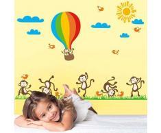 BONAMART ®Cute Animal Abnehmbare Schlafzimmer Kinderzimmer Wandtattoo Sprüche Kinderzimmer AY847