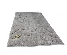 Gözze Badteppich, Mikrofaser Hochflorteppich, 50 x 70 cm, Steine, Sand, 1032-73-050070