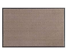 Hanse Home Waschbare Schmutzfangmatte Soft & Clean Taupe rund, ø 75 cm
