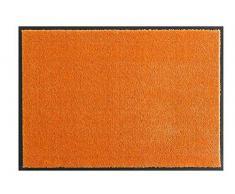 Hanse Home Waschbare Schmutzfangmatte Soft & Clean Orange, 39x80 cm