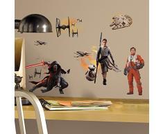 RoomMates MK3010SCS RM - Star Wars VII Wandtattoo, PVC, bunt, 29 x 13 x 2.5 cm