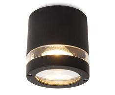 Eco Light Moderne Deckenleuchte Focus, Ohne Leuchtmittel, IP44 für den Außenbereich 6042 GR