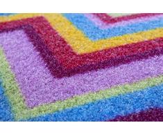 Andiamo 282309 ZigZag Fußmatte, Polyamid, mehrfarbig, 50 x 70 x 3 cm