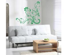 INDIGOS 4052166141345 Wandtattoo w652 schöne Tribal Blatt Wandaufkleber 120 x 114 cm, grün
