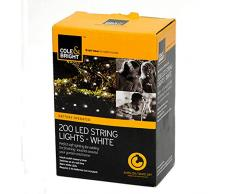 Gardman 18575 200 LED Lichterkette weiße LEDs, Plastik, mehrfarbig