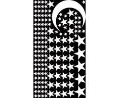 Graz Design 770093_30x57_010 Wandtattoo Set Kinderzimmer Sterne Mond Sternenhimmel Mdchen Jungs 30x57cm Weiss