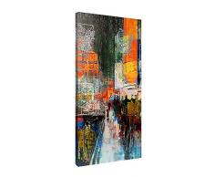 Picanova – 7th Avenue 50x100cm – Premium Leinwanddruck – Kunstdruck Auf 2cm Holz-Keilrahmen Für Schlaf- Und Wohnzimmer Von Joe Ganech