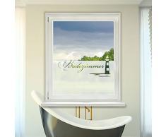 Graz Design 980091_90x57 Fensterdekor Milchglasfolie Sichtschutz Folie Badezimmer Leuchtturm (Größe=90x57cm)