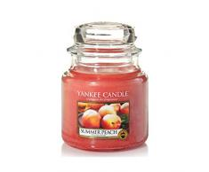 YANKEE CANDLE Summer Peach Duftkerze Glas, Orange, 10x9.8x12.4 cm