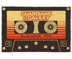 1art1 Guardians of The Galaxy - Vol. 2, Awesome Mix Kassette   Fußmatte Innenbereich und Außenbereich   Design Türmatte 60 x 40 cm