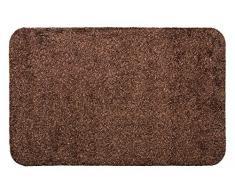 andiamo Fußmatte Samson, waschbare & resistente Türmatte aus 100% Baumwolle, Größe:50x80cm, Farbe:Braun